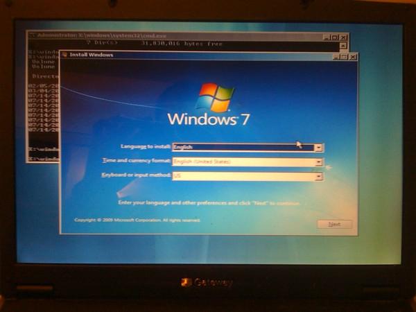 установка windows 7 на ноутбук инструкция скачать